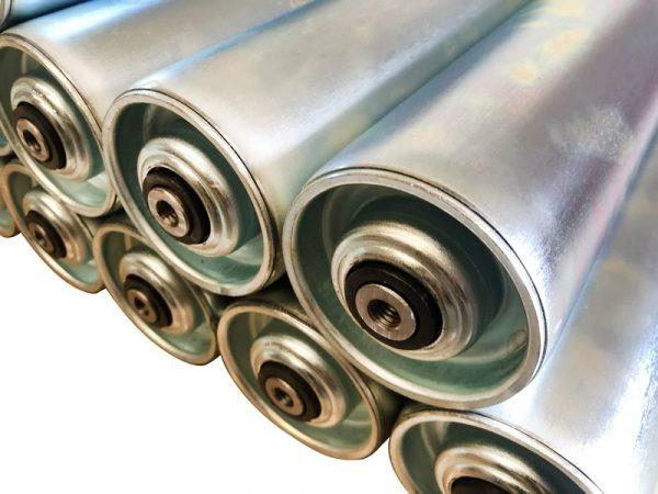Steel Conveyor Roller 76mm Diameter X Length 605mm 005