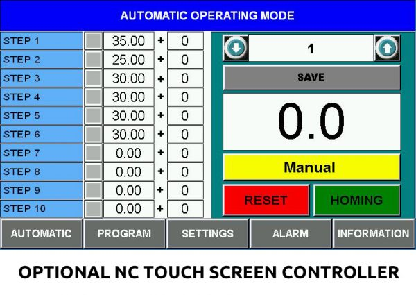 Optional NC Touch Screen Controller