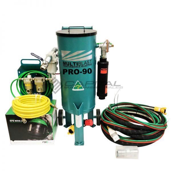 Multiblast Pro90 40 Litre Sandblasting Pot Machine With Soda Blasting Kit 001