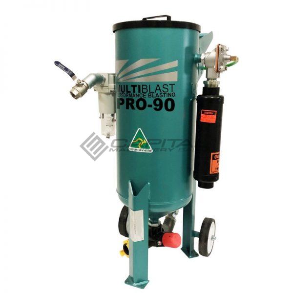 Multiblast Pro90 40 Litre Sandblasting Pot Machine With Soda Blasting Kit 002