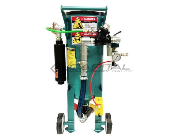 Multiblast Pro90 40 Litre Sandblasting Pot Machine With Soda Blasting Kit 005