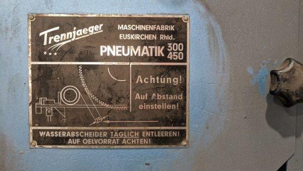 Used Trennjaeger High Speed Circular Metal Saw Ts01 007