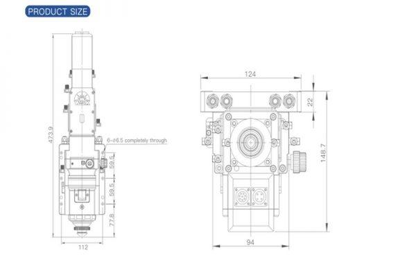 Atlantic Cnc Fiber Laser Cutting Machine Type Hflgse3015 3000w Wsx Nc60 Auto Focus Cutting Head Blueprint
