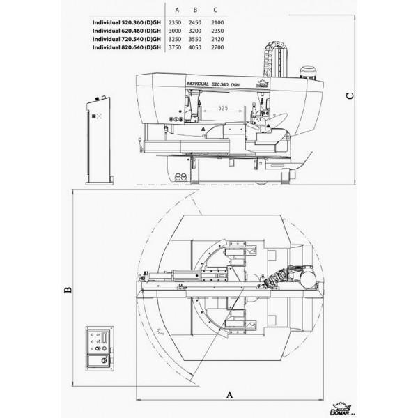 Bomar 620 460 Dgh Semi Automatic Bandsaw 009