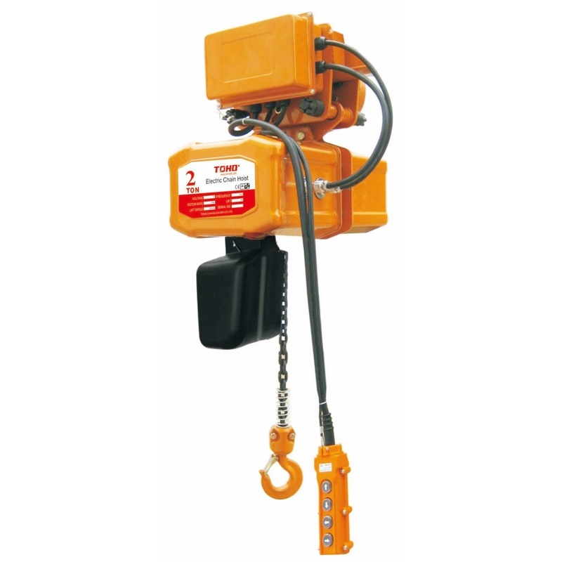 Toho Electric Chain Hoists Single Phase With Electric Trolley Tech0206 Et