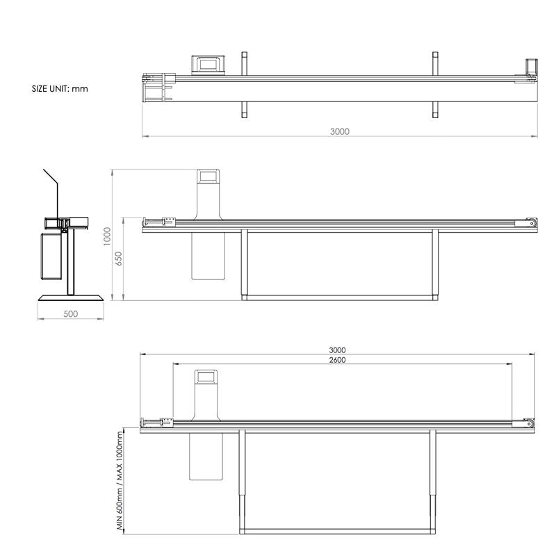 Dc 300 Aluminum Digital Measuring Table Outline Technique