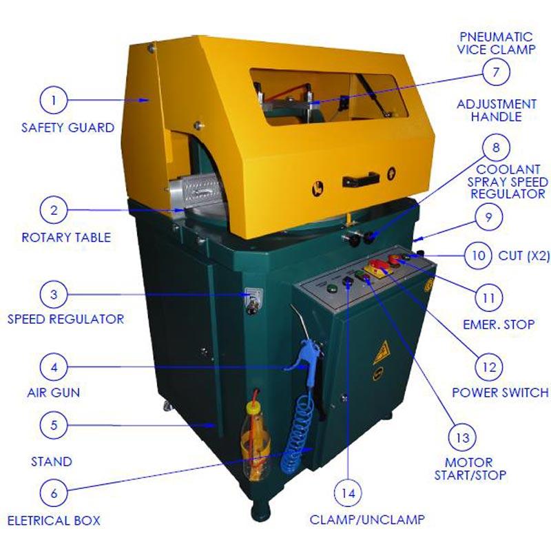 Brobo Tnf400 Up Cut Aluminium Saw Main Component For Aluminium Saw