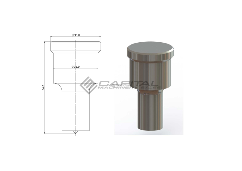 Steelmaster Round Punch For Steelmaster Iron Worker 3
