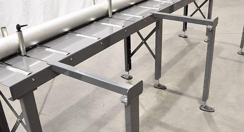 Bomar Type M Saw Roller Conveyor Material Handling System Legs For Material Preparation