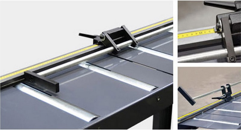 Bomar Type M Saw Roller Conveyor Material Handling System Ma Manual Material Length Stop With Band Scale