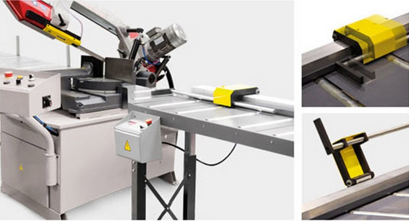 Bomar Type M Saw Roller Conveyor Material Handling System Mnca Length Stop Systems With Automatic Positioning