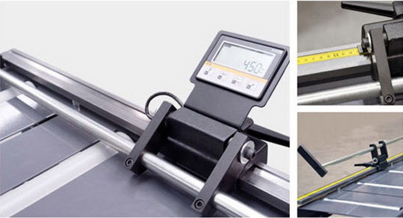 Bomar Type M Saw Roller Conveyor Material Handling System Mra Manual Material Length Stop With Digital Display