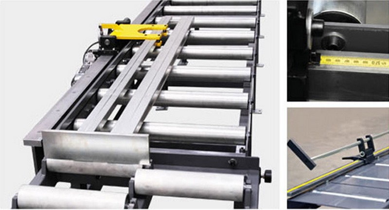 Bomar Type T Saw Roller Conveyor Material Handling System Tnca Length Stop Systems With Automatic Positioning