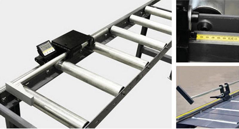 Bomar Type T Saw Roller Conveyor Material Handling System Tra Manual Material Length Stop With Digital Display