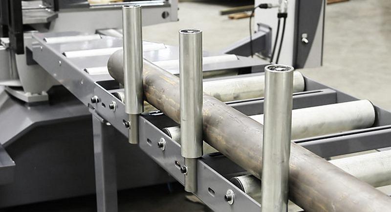 Bomar Type X Saw Roller Conveyor Material Handling System Fixed Vertical Steel Roller