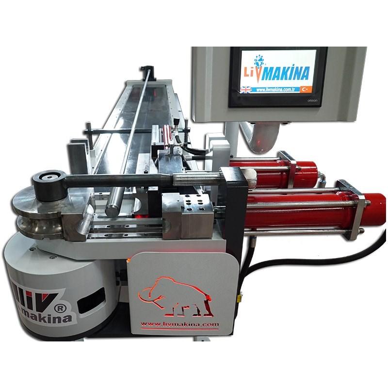 livmakina lvh 65 nc semi automatic tube bending machine