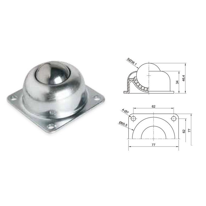 Wa 02 Ball Transfer Units For Conveyor Roller Parts
