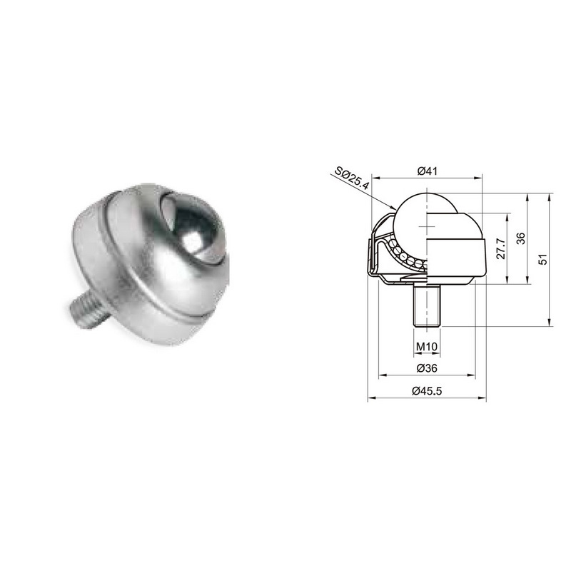 Wd 03 Ball Transfer Units For Conveyor Roller Parts