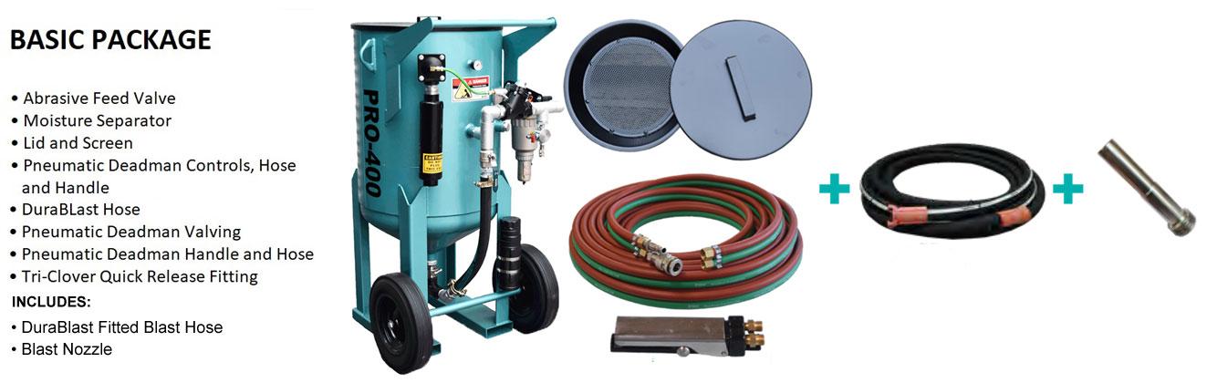 Multiblast Pro400 174 Litre Blasting Pot Machine Basic Package B Features