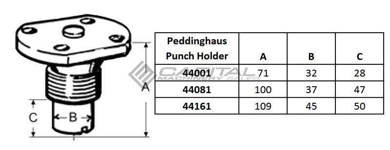Peddinghaus Quick Change Punch Holder Table