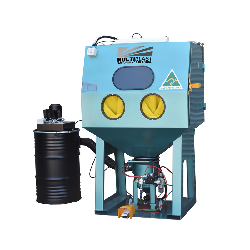 Multiblast Pro1200 Pressure Sandblasting Cabinet Drum Type Dust Collector