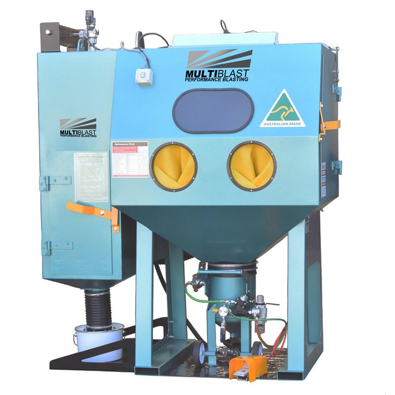 Multiblast Pro1200rp Pressure Sandblasting Cabinet Cw Reverse Pulse Dust Collector