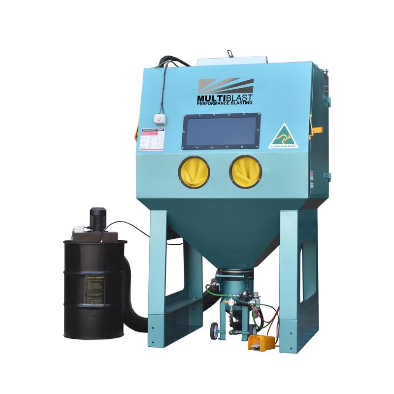 Multiblast Pro1500 Pressure Sandblasting Cabinet Drum Type Dust Collector