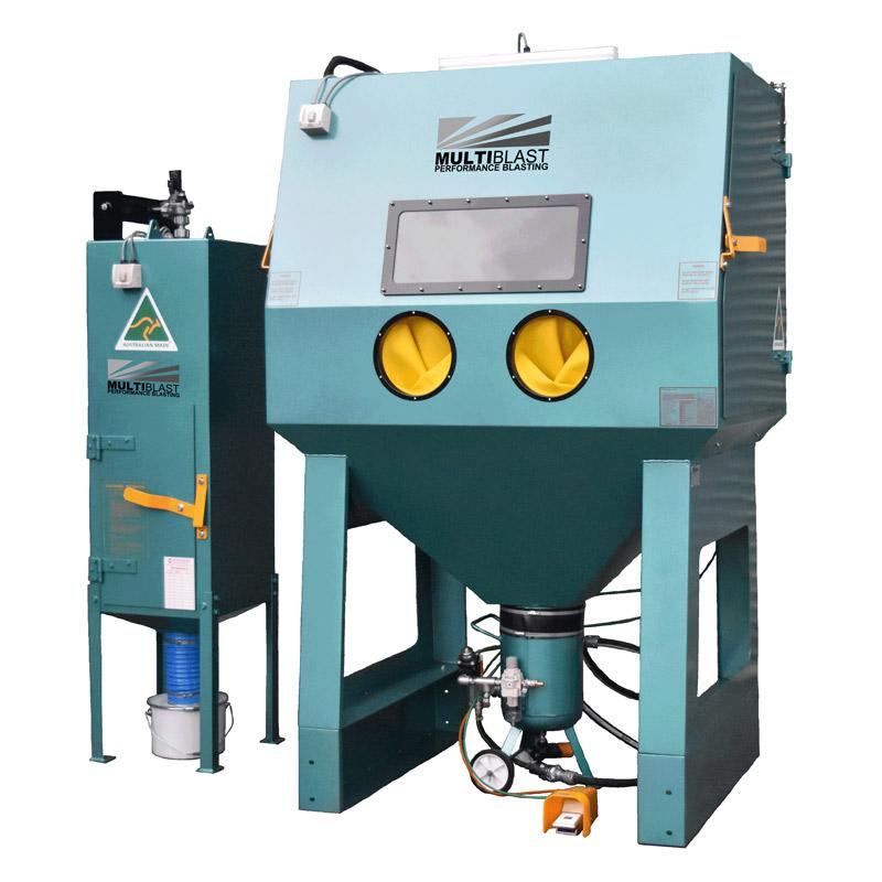 Multiblast Pro1500rp Pressure Sandblasting Cabinet Cw Reverse Pulse Dust Collector