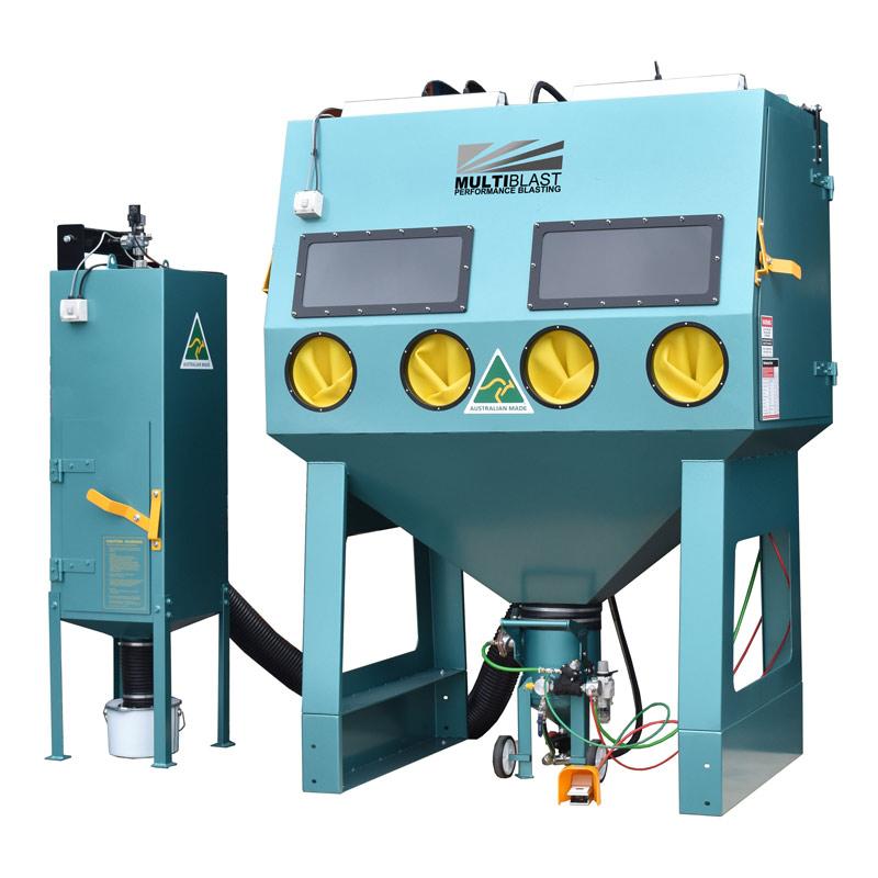 Multiblast Pro1800rp Pressure Sandblasting Cabinet Cw Reverse Pulse Dust Collector