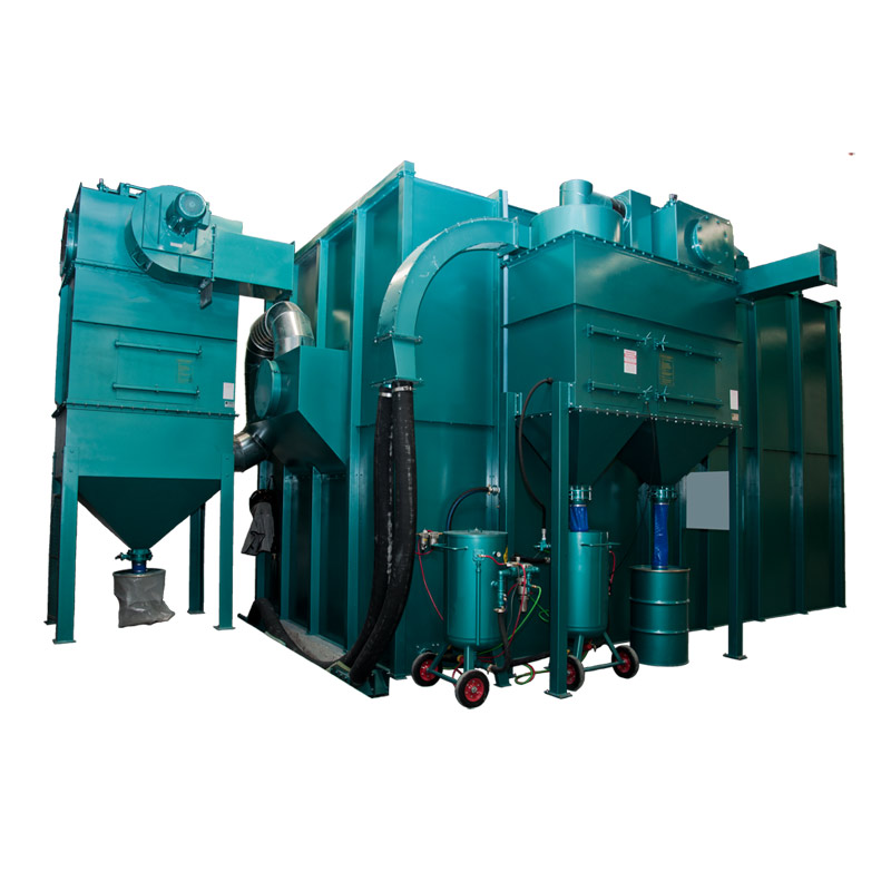 Multiblast Sandblasting Room Booth Pneumatic And Mechanical Recovery Systems