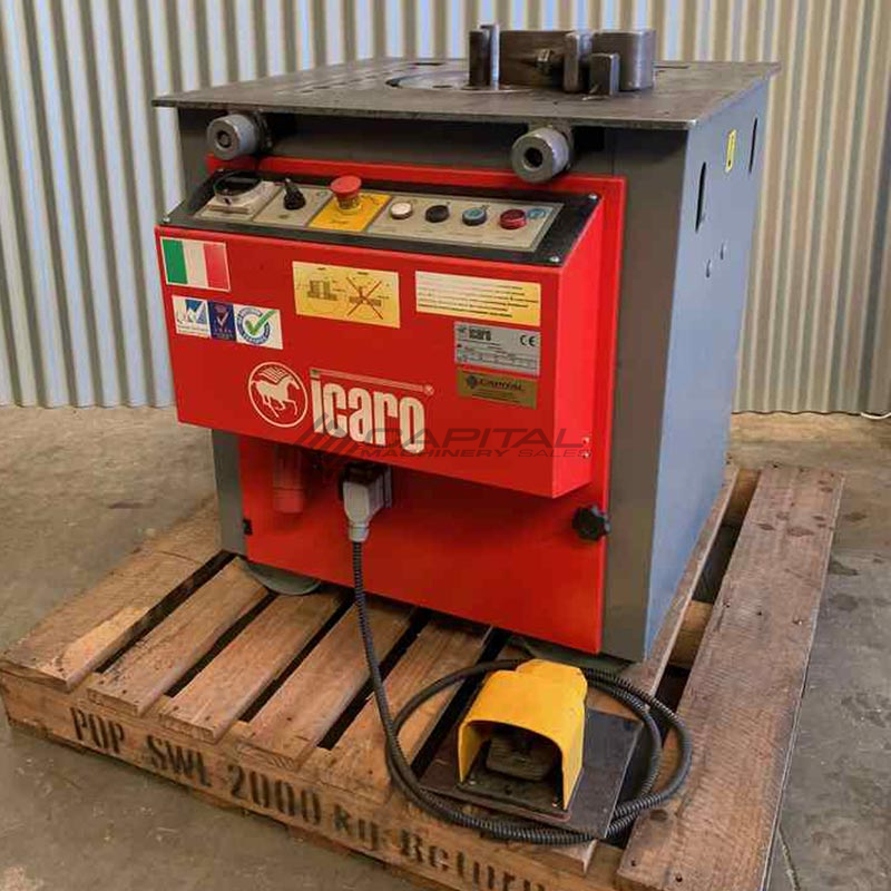 Used Icaro Cp26 32 Combined Production Rebar Cutter Bender Machine 1