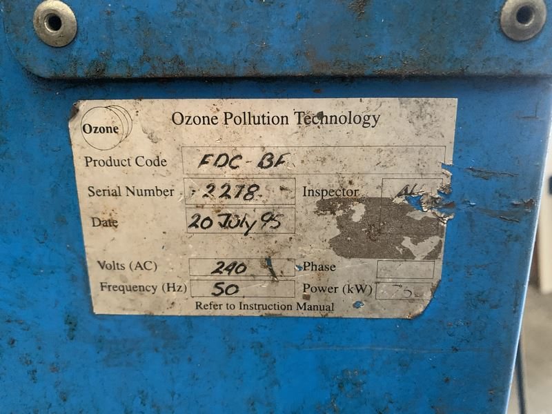 Used Welding Fume Extractor Engrave