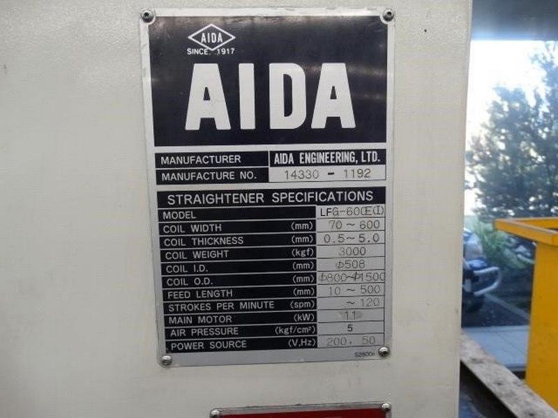 Aida Coil Straightening Machine Model Lfg 600ei Capacity 3000kg Coil Width 70 600mm Coil Thickness 0 5 5mm 4