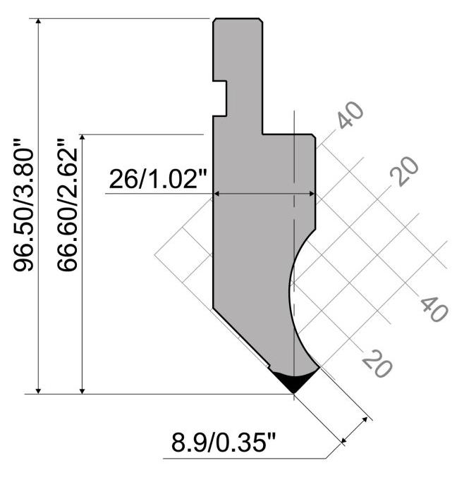 P97 85 R08x415mm