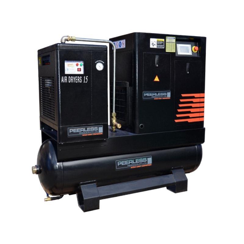 Peerless Pbs108 Black Rotary Screw Compressor Full Feature 8 Bar 1150lpm 10hp
