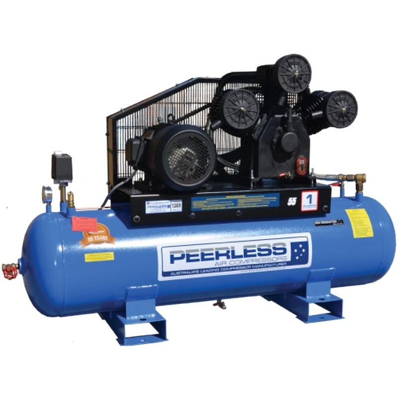 Peerless Php52d High Pressure Belt Driven Diesel Compressor Twin Tank 1050lpm